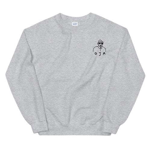 OLD MAN EMBROIDERED CREW NECK, BUXOM FIT