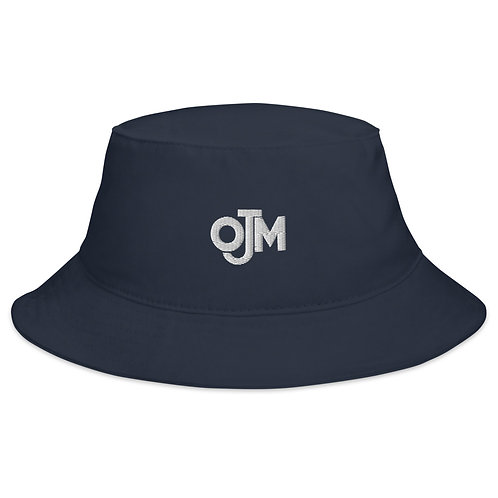 ojm embroidered navy bucket