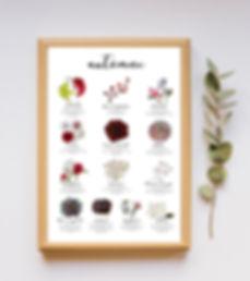 Dix octobre - Annecy - Calendrier - Automne - artisan fleuriste - Haute-Savoie