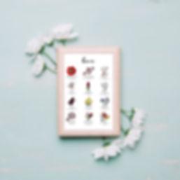 Dix octobre - Calendrier - Hiver - Savoie - Annecy - 10 octobre - Artisan Fleuriste - Mariage - Illustration fleurale