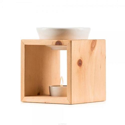 Scuol Arve Schweizer Holz Keramikschale creme-weiss
