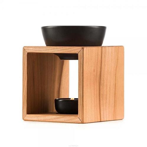 Ägeri Schweizer Kirschholz Aroma Lampe Keramikschale schwarz