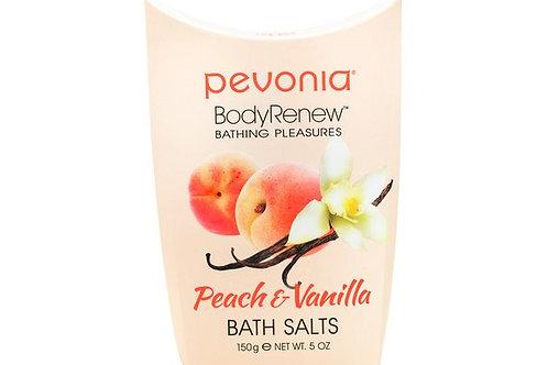 PEVONIA BodyRenew Bath Salts Peach/Vanilla 150 g