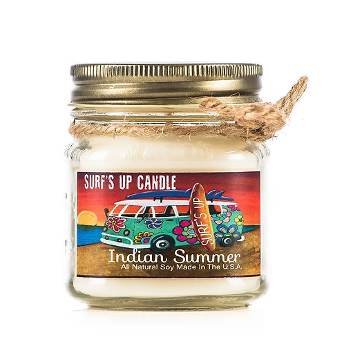 Indian Summer Surf's up Candle 8oz Sojawachs
