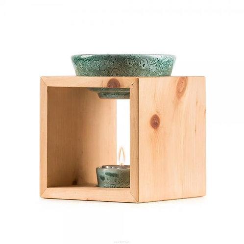 Scuol Arve Schweizer Holz Keramischale türkis