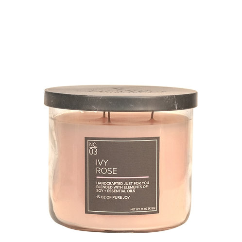 Village Candle Ivy Rose Soja Kerze (3-Docht)