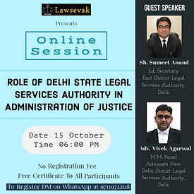 Role of Delhi State Legal Services Autho
