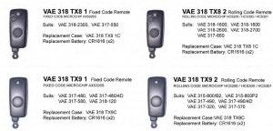VAE TX-2 remote programming