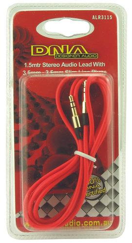 3.5mm Plug To 3.5mm Plug Audio Lead - 1.5 Metre