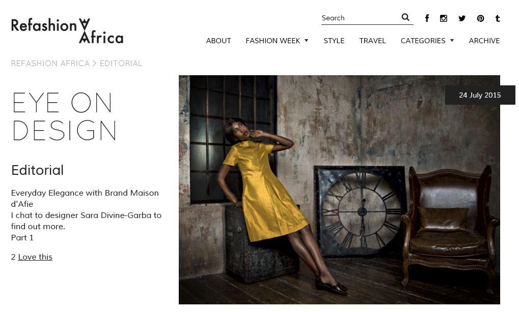Refashion Africa interview
