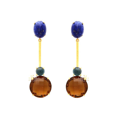 ABI LAPIS EARRINGS £87.5