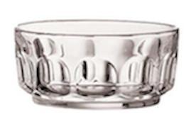 Glass Thumbprint Bowl Large