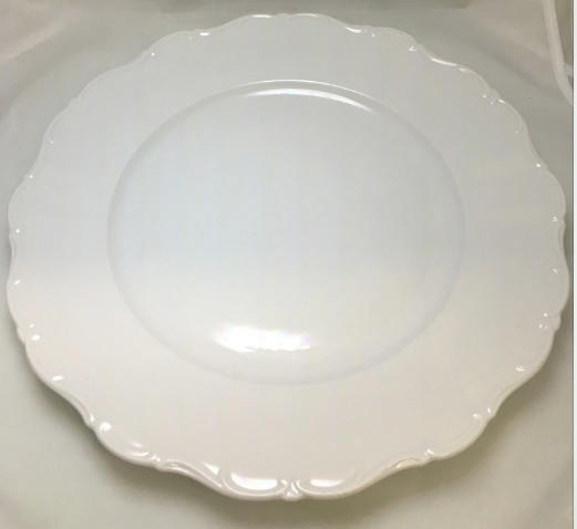 Marianbad Scalloped White Charger