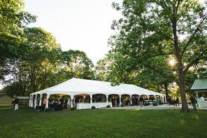 White Frame Tents