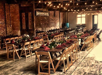 Natural Wood Chair and Farm Table Rentals