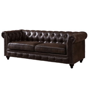 Chesterfield Sofa Leather Brown