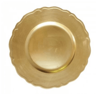 Scalloped Gold Charger