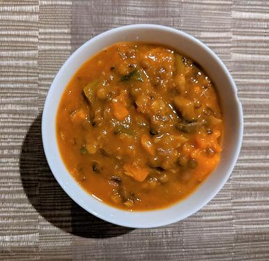 Mediterranean lentil & tomato stew