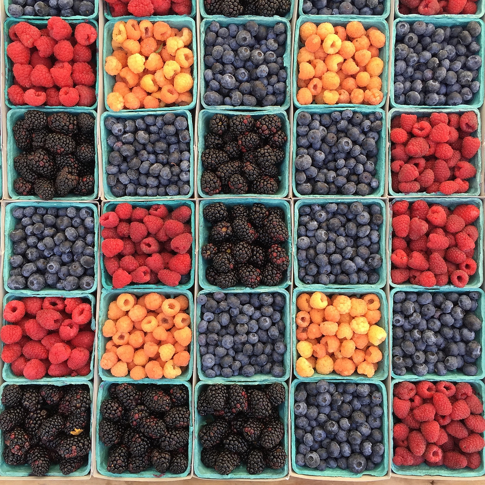 Berries - raspberries, blueberries, blackberries - superfood