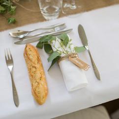 Détail dîner dans l'orangerie