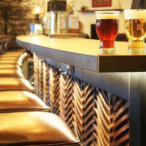 Chevron Bar Wood Detail