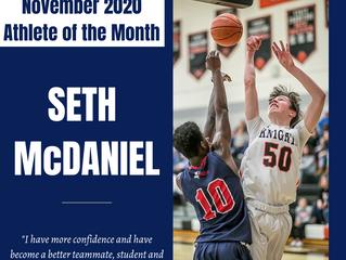 Seth McDaniel- November 2020 Athlete of the Month