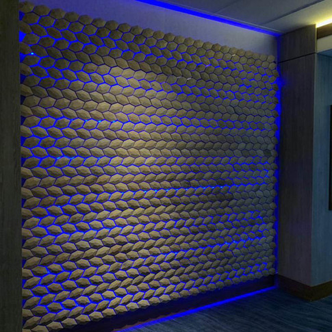 Lighted Wood Tiles