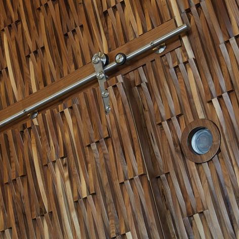 Wood Tiles in walnut