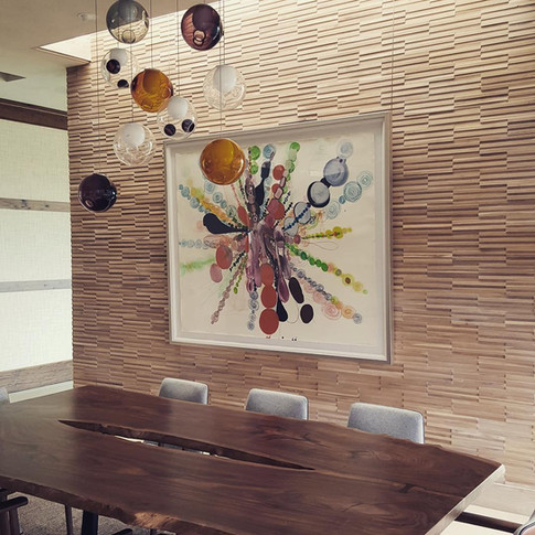 White Oak Wood Tiles Paneling