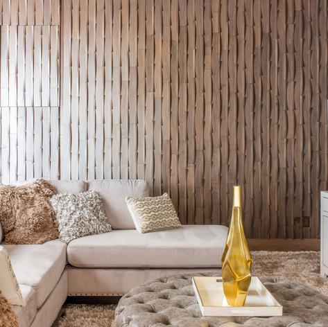 Veneer wood panel with 3d wood