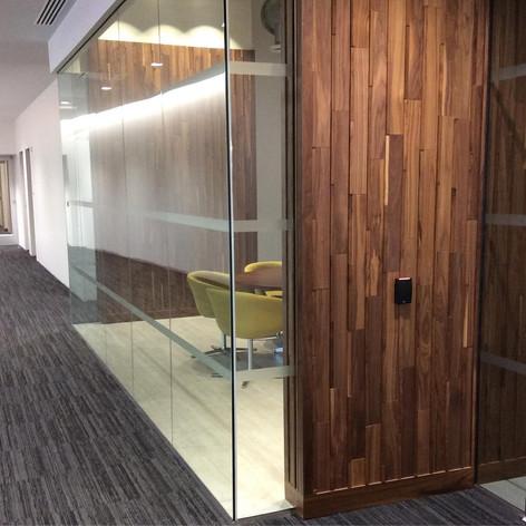 Walnut wood tile Feature wall