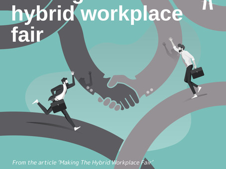 HBR Article Visualization: Making Hybrid Workplace Fair