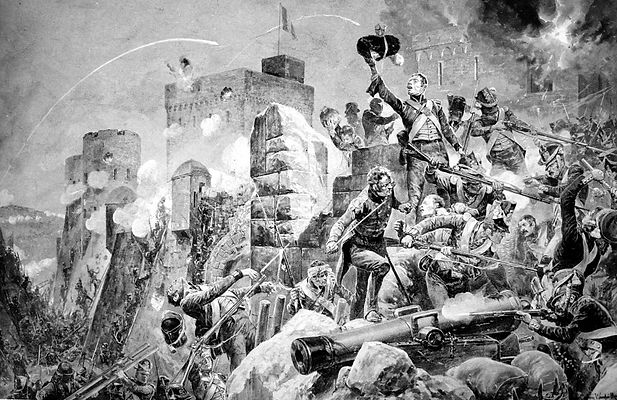 Siege_of_Badajoz,_by_Richard_Caton_Woodv