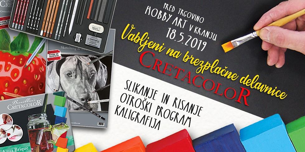 Kranj / Brezplačne Cretacolor delavnice - kaligrafija, risanje, slikanje