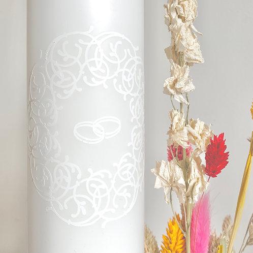 Poročna sveča, personalizacija z doplačilom