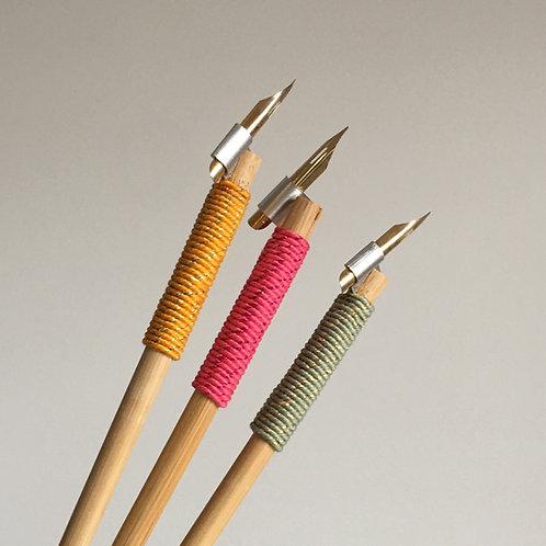 Poševno držalo s konicama za copperplate in moderno kaligrafijo