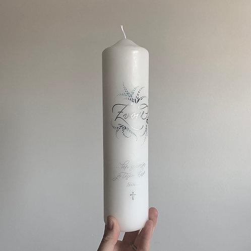 Personalizirana žalna sveča