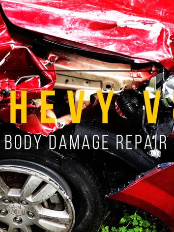 Chevy Sonic Body damage Collision Repair