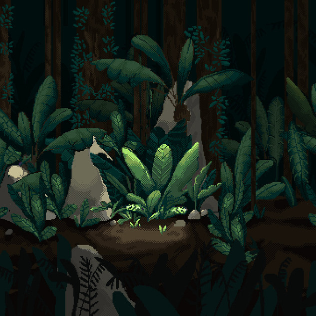 Pixel Work Background for a Game