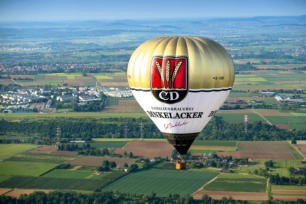 Hoch hinaus mit dem Dinkelacker Heißluftballon