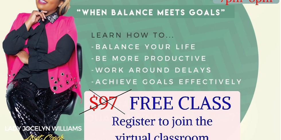 When Balance Meets Goals