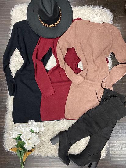 Winter Mini sweater Dress