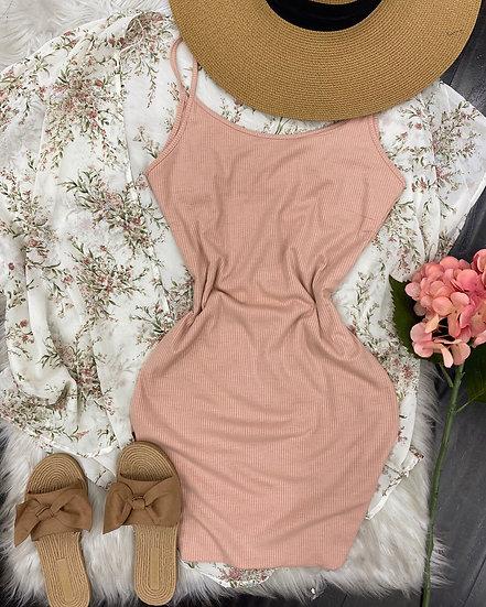 Angelina mini Dress (Blush)