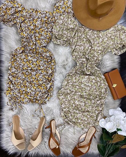 Isabella scrunched mini Dress