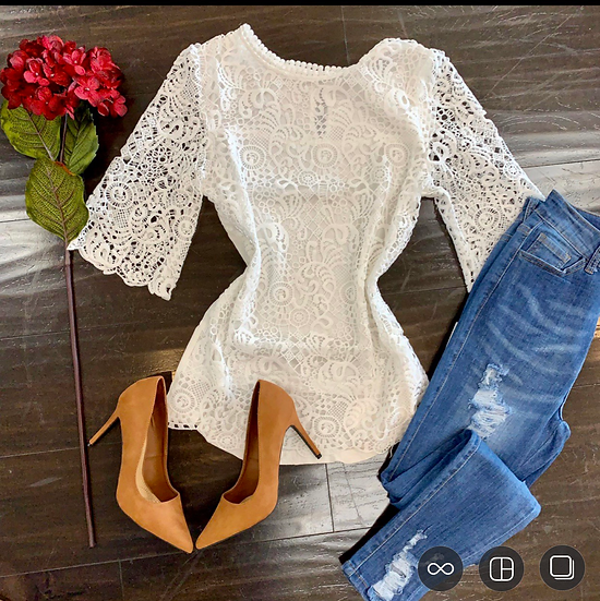 Maria lace blouse