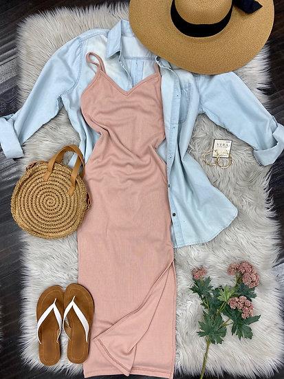 Lola Blush midi Dress