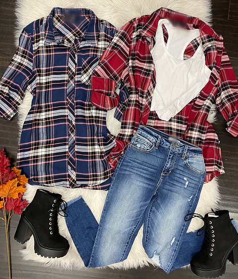Fall long flannel