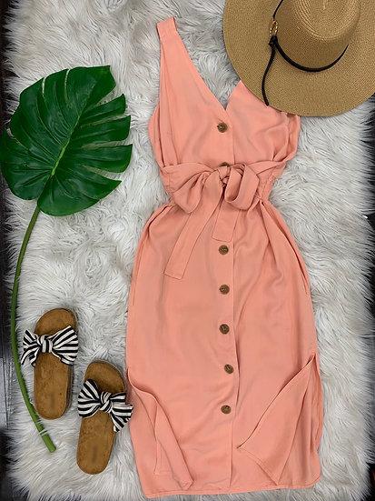I'm peachy midi Dress