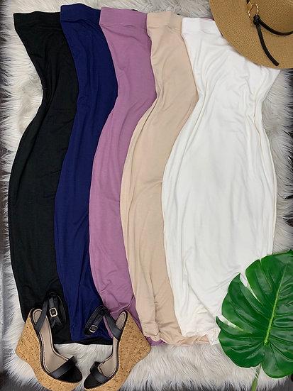 Koko tube midi Dress