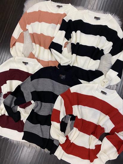 Cynthia  stripe sweater